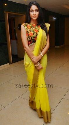 lavanya-tripathi-yellow-saree-fgdgf