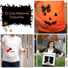 How fun does this #Pumpkin look? If you're pregnant, you've got to check out these #DIY fun maternity #Halloween costumes!