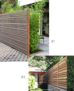 privacy screen options for the backyard and using different widths looks interesting