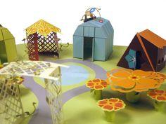 Paper City by Lauren Elizabeth, via Behance