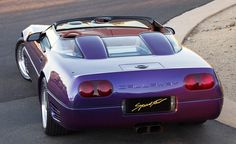 "Corvette Callaway Speedster #7 of 10. The Aerobody paint is ""Purple Haze"" with ""Pink Clay"" leather interior."