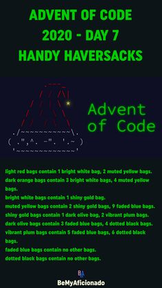Red Bags, Blue Bags, Depth First Search, Sequence Diagram, Words Containing, Data Structures, Orange Bag, Advent