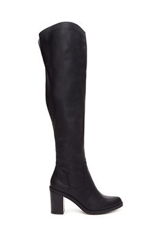 Faux Leather Over-The-Knee Boots   FOREVER 21 - 2000119842