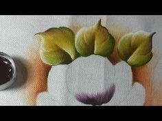 Pintura em Tecido. Aprenda pintas Rosas, Flor do Campo, Folhas e Acamamento. - YouTube