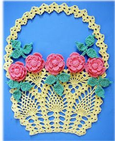 Free pattern . several years ago I designed a set of doilies for Annie's Attic called 'Vintage Floral Doilies.' The publishing rights have reverted back t...