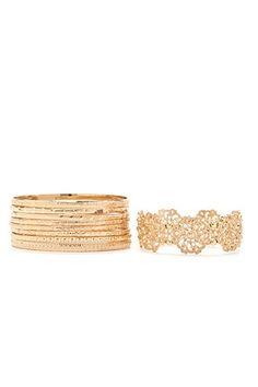 Etched Bracelet Bangle Set