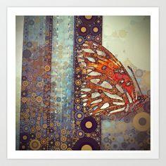 Golden Butterfly Art Print by Love2Snap - $22.48
