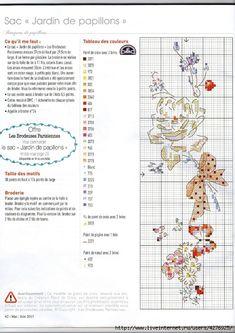 Les Brodeuses Parisiennes «Jardin de papillons» - Creation Point de croix 30 - Helene Le Berre
