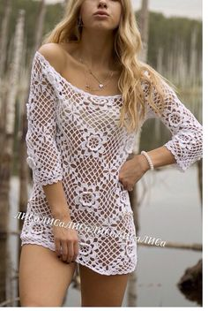 Crochet Shirt, Crochet Cardigan, Love Crochet, Crochet Lace, Crochet Bikini, Crochet Clothes, Diy Clothes, Sexy Outfits, Cute Outfits