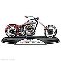 New England Patriots Driven To Victory Motorcycle Sculpture