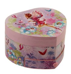 Musical Fairy Girl Jewellery Box Heart Shaped with Drawer @ £9.99