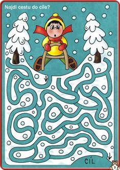 (2015-04) Kælketur, mellem Christmas Maze, Maze Worksheet, Printable Mazes, Mazes For Kids, Maze Puzzles, File Folder Activities, Kids Learning Activities, Activity Sheets, Teaching Kindergarten
