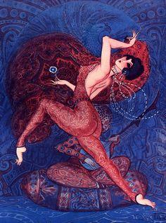 Illustration by Armand Vallee, For La Vie Parisienne, 1920s