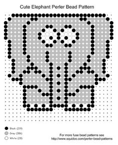 #cute elephant perler bead pattern