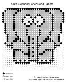 #cute elephant perler bead pattern