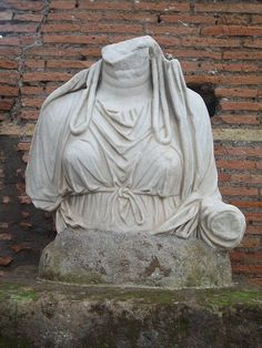 bust in the Garden of the Vestal Virgins, the Roman Forum