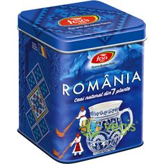 Ceai Suvenir Romania - Albastru 75g FARES Romania, Herbalism, Blue, Tea, Fruit, Natural, Herbal Medicine, Nature, Teas