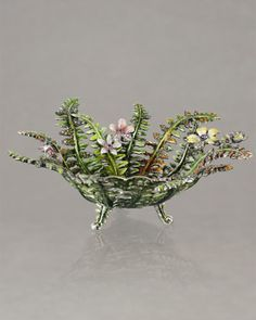 Fern Bowl by Jay Strongwater at Neiman Marcus.
