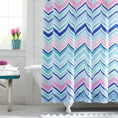 Charming Zig N Zag Shower Curtain, Cool Multi Designed By Pottery Barn Kids Via  Stylyze