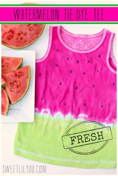 DIY Watermelon Tie-Dye Tee - Perfect for Summer