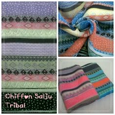 #Pashmina Chiffon Salju Tribal. Available: purple. 175x75cm. Only 30k. text: 085797477628