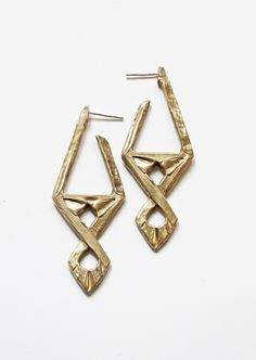 AMNH Shop | Geometric Bronze Earrings - All Artisan Goods - Etsy - Collections