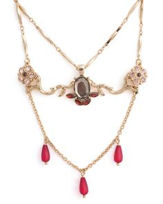 Pink Dahlia Necklace by Stylemint.com, $29.99