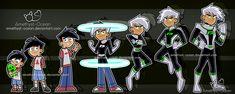 DP: Danny Growing Up by Amethyst-Ocean on DeviantArt Danny Phantom Funny, Phantom 3, Phantom Planet, Memes Arte, Ghost Boy, Nickelodeon Cartoons, Ninja, Superhero Design, Dark Fantasy Art