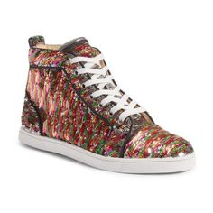5f8081062e2ff2 Women s Christian Louboutin Bip Bip High Top Sneaker ( 995) ❤ liked on  Polyvore featuring shoes