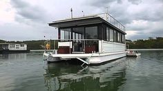 As New Custom Built 48 steel Houseboat, in wonderful condition, with two large bedrooms, excellent kitchen with fill size upright fridge freezer, large gas o. House Boats For Sale, Shanty Boat, Shed To Tiny House, Water House, Floating House, Boat Design, Power Boats, Rv Life, Custom Homes