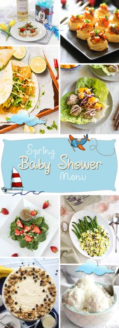 Baby Shower Food Ideas from appetizers straight through to desserts. Great food ideas for a baby shower.
