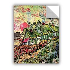 Cottages Reminiscent Of North by Vincent Van Gogh Art Appeelz Removable Wall Mural
