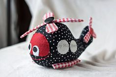 Custom Herb the Helicopter 8.5 Stuffed by StitchesByRachelle