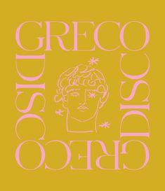 Greco Disco: The Art & Design of Luke Edward Hall - Mindsparkle Mag Graphic design Graphic Design Posters, Graphic Design Typography, Graphic Design Inspiration, Branding Design, Identity Branding, Corporate Design, Brochure Design, Visual Identity, Japanese Typography