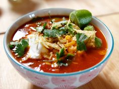 Slow Cooker Mexican Chicken Soup recipe from Ree Drummond via Food Network