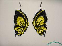 20% Off - Earrings Butterfly effect - Elegant Hand Beaded seed beads earrings