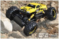 Remote Control 4WD Tri-Band Off-Road Rock Crawler RTR Monster Truck by Maisto. $56.99. Full function 4WD Remote Control moves forward, backward, turns left and right * Tri Band function allows to race three trucks at the same time * 4WD with two (2) motors and one (1) low-gearing make for rugged off-road and rock climbing action * Articulated front and rear suspension * Speed: Up to 15 mph * Range: 60 feet * Brand: Maisto * Model: TS-81152R * Material: Plastic * Dimensions:...