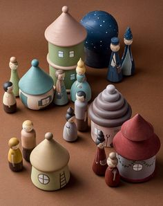 Wooden fairy village Peg dolls & houses by HappyTreeStore. Montessori toys Woodland nursery decor Educational Eco-friendly Toys for baby. Montessori wooden toys. Wood toys for kids activity. Just look at this stunning Fairy Village. Every peg doll and house is hand-carved and carefully hand-painted by ourselves using water based paints. #babytoy #education