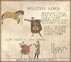 "Medieval version of ""Yellow Car"" Source: Cabin Pressure Fans (cabin_pressure) on Twitter"