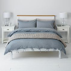 Check out this 'John Lewis Chambray Ties Duvet Cover and Pillowcase Set, Blue' sold by Will Taylor via @SocialSuperStr #BeSoSuper