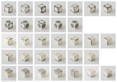 Richard McVetis, Variations of a Stitched Cube, 2017