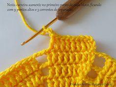 Diandra Arte em Crochê: PAP- TRILHO DE MESA RAIO DE SOL Sombrero A Crochet, Yellow Pattern, Create Your Own, Crochet Hats, Lily, Princess, Crochet Table Runner, Knitted Rug, Crochet Flower Patterns