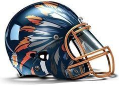 Fighting Illini football helmet
