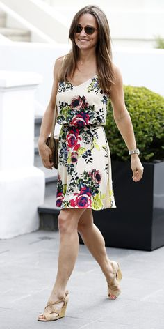 Pippa Middleton Wears a Chic Printed Tabitha Webb Dress | InStyle.com