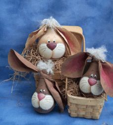 Sandy Holman bunny light bulb designs adorable