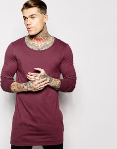 Longline T-shirt by ASOS Soft-touch jersey Scoop neck Super longline cut Cut longer than standard length Relaxed skater fit Machine wash Cotton Our model wears a size Medium and is tall James Guy, Stephen James Model, T Shirt Long, Gangsta Girl, Models, Long A Line, Mannequin, Beautiful People, Scoop Neck