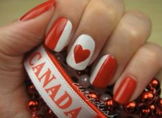 Canada Day Nail Art Lovely Nails lovely nails and hair Nail Art Diy, Cool Nail Art, Diy Nails, Love Nails, How To Do Nails, Pretty Nails, Canada Day, Holiday Nails, Seasonal Nails