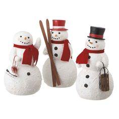 Sleigh Ride Snowmen - Set of 3 $149.99