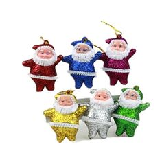 HLDIY Six Color Santa Claus Mixed Christmas Ornaments 6pcspack 10packs per set >>> Read more  at the image link.
