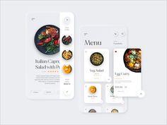 Restaurant Delivery Menu App by Siddhant Tiwari on Dribbble Restaurant Delivery, Menu Restaurant, Delivery Food, Menu Design, Ui Ux Design, Interface Design, Steak Dinner Sides, Mobile App Design, Apps